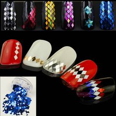 Nail DIY super beautiful diamond sequins metallic sequins nail jewelry flash chip laser phototherapy sequins