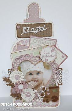 Dutch Doobadoo Diy Invitations, Invitation Cards, Baby Barn, Owl Card, Beautiful Handmade Cards, Baby Shower Cards, Marianne Design, Stencil Diy, Baby Crafts
