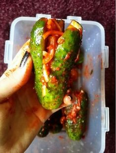 Cucumber kimchi: simple and delicious. Kimchi from cucumbers: simple and delicious . Vegetarian Recipes, Cooking Recipes, Healthy Recipes, Cucumber Kimchi, Cucumber Appetizers, Good Food, Yummy Food, Russian Recipes, Fermented Foods