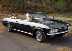 1965 Chevrolet Corvair (completely restored)-my first car, only it was silver with a white automatic top.