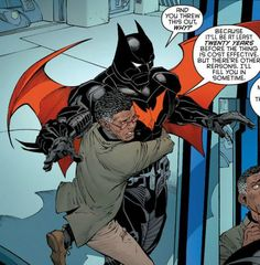 Bruce testing the Batman Beyond suit for the first time By Greg Capullo Evil Batman, Batman Armor, Batman And Superman, Funny Batman, Dc Comic Books, Comic Book Artists, Comic Book Characters, Batman The Dark Knight, Batman Beyond Suit