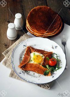 Buckwheat breakfast galette on @StudentStock.com