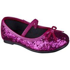 Target Mobile Site - Toddler Girl's Cherokee® Jaray Glitter Ballet - Pink Flower girl shoes!