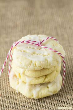Glazed Lemon Sugar Cookies - The ultimate soft and chewy lemon cookie with icing