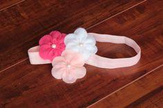 Valentines day headband. Felt Flower headband-Baby headband-Infant Headband - Toddler Headband -Newborn headband on Etsy, $8.50