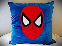Velvet Spiderman Pillows. by Gorgeoustuff on Etsy, $49.00