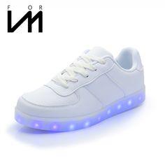 Licht schoenen lichtgevende camouflage mannen casual glow in