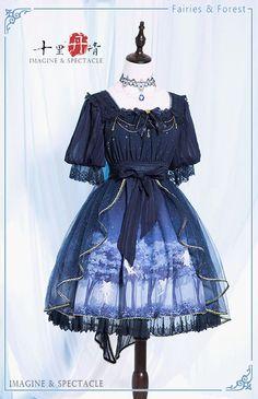 Prom Dresses 2018 Imagine & Spectacle -Fairies in the Forest- Lolita OP Dress Kawaii Fashion, Lolita Fashion, Cute Fashion, Rock Fashion, Emo Fashion, Pretty Outfits, Pretty Dresses, Beautiful Outfits, Kawaii Dress
