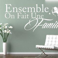 Sticker mural citation la famille | decofrance59.com