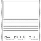 This is great to use with students in all different levels of writing. The lines are provided to enhance students penmanship skills. One page has a...