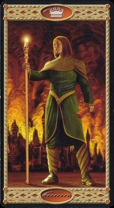 Tarot of the Elves The Elf, Elves, Wands, Mystic, Tarot, Painting, Dragons, Fire, Costumes