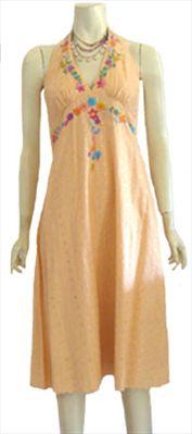 Hippie Style Halter Dress