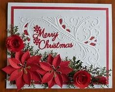 Pointsettia Christmas Card
