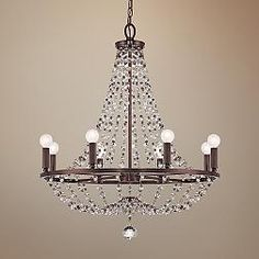 Channing Chocolate Bronze 28-Inch-W Chandelier