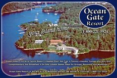 "Maine waterfront, while admiring some breathtaking vistas, you'll soon cross over the famous ""swing"" bridge onto Southport Island, ME...a true gem hidden away on a spectacular 45 acre site surrounded by majestic blue spruce, shimmering white pines and awe inspiring Maine waterfront vistas."