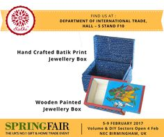 All arrangements ready for SpringFair 2017 at NEC, Birmingham, UK. Excited to be a part of this. Find us at the Department of International Trade, Hall - 5 Stand F10. Do visit us for beautiful Indian handmade craft. For more information visit our website: export.silkoakgroup.com or call us at (India): 033 4061 1166 , UK Office : +44 7904555600. #SpringFair2017 #gift #HomeTrade #B2B #ceramic #homedecor #handicraft #UK #lifestyle #SpringFair