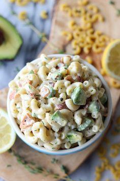 Bacon and Avocado Macaroni Salad