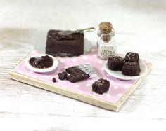 miniature brownies prep board