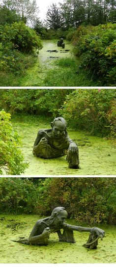 swamp monster... - (sculpture)