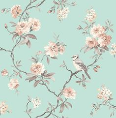 Fine Decor 2900-40768 Seafoam Chinoiserie Floral Wallpaper - - Amazon.com