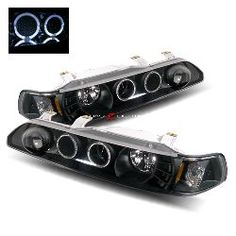 90-93 Acura Integra Halo Projector Headlights - JDM Black....my integra NEEDS these!