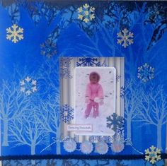 Chattering Robin's: Glittered Winter Fun LO with Epiphany Crafts! Scrapbook Pages, Scrapbook Layouts, Scrapbooking, Epiphany Crafts, Nest Design, Paper Snowflakes, Blue Glitter, Winter Fun, Watercolor Paper