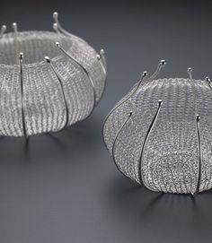 Brooch  Sterling silver  Crocheted  Sowon joo