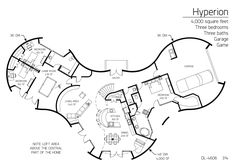 floor plan: dl-3602 | monolithic dome institute | home plans +