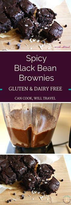 Chocolate lovers rejoice! These rich, fudge-y, spicy black bean brownies are flourless, gluten free, vegan, and dairy free - love that!!