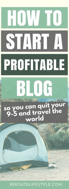 Starting a profitable blog seems like a far-fetched goal. But making money blogging online is totally and 100% possible. Follow this step-by-step guide and get started with your blog within minutes. Soon, you'll be able to work from home and travel the world blogging. (start a blog and make money online; how to start a lifestyle blog; how to start a travel blog; how to start a fashion blog; how to start a mom blog; how to start a blog and make money from home)