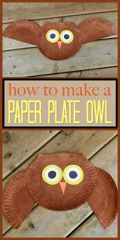 This super easy owl craft is great for young kids, even the smallest can do this with help! Make this fun paper plate owl with your kids today. # Easy Crafts fall Paper Plate Owl Craft: make a cute owl from a paper plate Crafts For Kids To Make, Kids Crafts, Art For Kids, Craft Projects, Owl Crafts Preschool, Craft Ideas, Owls For Kids, Autumn Crafts Kids, Fall Paper Crafts