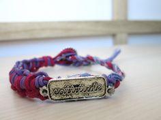 Purple Lilac Macrame Cattitude  single wrap bracelet by So cliché jewelry  https://www.facebook.com/soclichejewelry