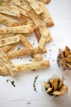 semolina herb crackers • now, forager
