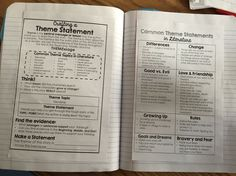 Reader's Notebook-Anchor Charts at Your Students' Fingertips