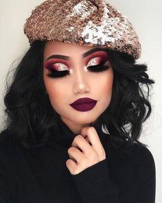 Bridal glam makeup look Glam Makeup, Cute Makeup, Gorgeous Makeup, Pretty Makeup, Makeup Inspo, Eyeshadow Makeup, Makeup Inspiration, Hair Makeup, Eyeshadows