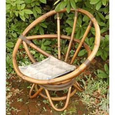 Bamboo swivel round chair (minus cushion)... like I remember from the 90s! ~ET