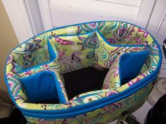 Camera bag insert lime paisley with by SnugglensCameraBags on Etsy, $49.99