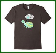 Mens I Turtley Love You - Cute Turtle Tshirt Large Asphalt - Animal shirts (*Amazon Partner-Link)