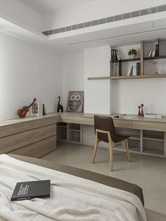 Home office in a bedroom