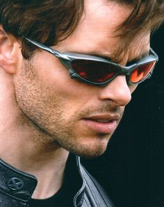 """For all the X-Men fans out there did you know that the sunglasses Cyclops wears in the movie are known as Oakley """"X-Metals"""" (""""Juliet"""") with Ruby lenses! Sunglasses Outlet, Gucci Sunglasses, Ray Ban Sunglasses, Sports Sunglasses, Uv400 Sunglasses, Sunglasses Shop, Sunglasses Online, Wolverine, Juliet Oakley"""