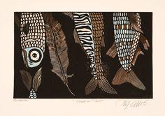Mariann Johansen Ellis Registration Of Reduction Lino Prints Part 3
