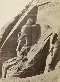 """humanoidhistory: """" Abu Simbel in Nubia, southern Egypt, 1860s, photo by Francis Frith. (New York Public Library) """""""