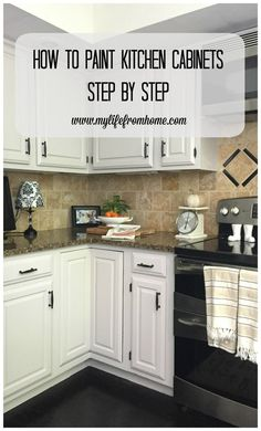 DIY: How I Painted My Kitchen Cabinets- kitchen- cabinet repainting- step by step instructions to repainting cabinets- white cabinets- DIY painting