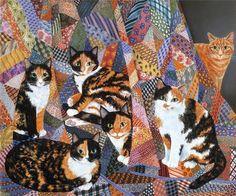 ~Mimi Vang Olsen.  I love Tortie & Calico cats...orange Tabbies, too!