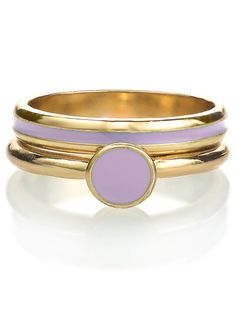 Lilac Stacking Two Ring Set. #AmericanApparel