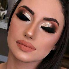 Glam Makeup, No Eyeliner Makeup, Smokey Eye Makeup, Makeup Inspo, Makeup Art, Makeup Inspiration, Makeup Tips, Beauty Makeup, Hair Makeup