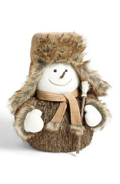 Shea's Wildflower Snowman with Trapper Hat Decoration available at #Nordstrom
