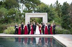 Aggie wedding, Dallas Arboretum
