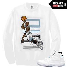 c2982bc54cb36e Legend Blue 11 shirts to match Jordan Retro 11 Legend Blue Sneaker Tee  Streetwear Clothing Retro