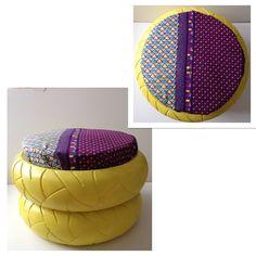 pneu et pouf r unis pour faire un si ge tonnant le pnouf pinterest les pneus pneu et pouf. Black Bedroom Furniture Sets. Home Design Ideas